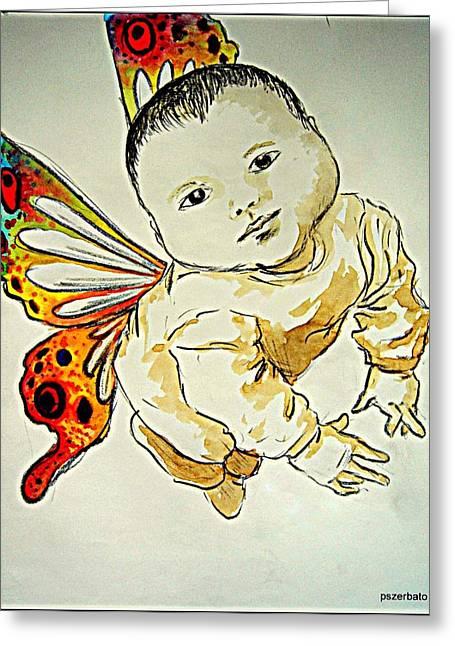 Innocence Greeting Card by Paulo Zerbato