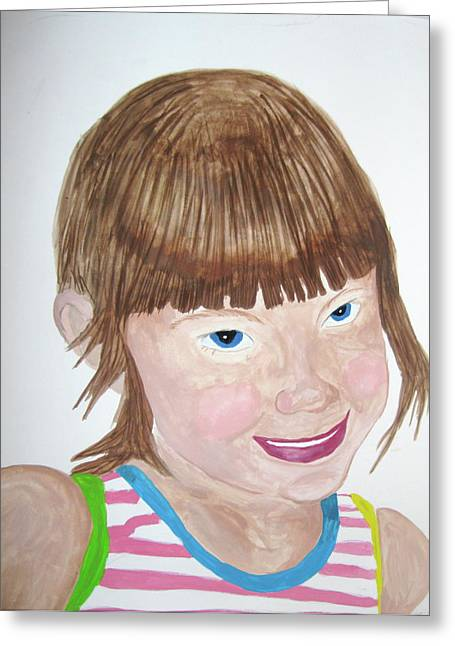 Greeting Card featuring the painting Innocence by Rebecca Wood