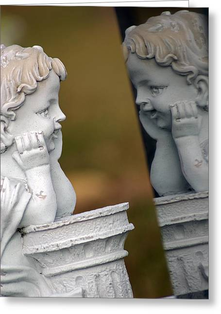 Innocence Reflected Greeting Card by Off The Beaten Path Photography - Andrew Alexander