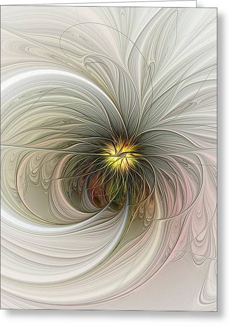 Floral Digital Art Greeting Cards - Innocent Greeting Card by Amanda Moore