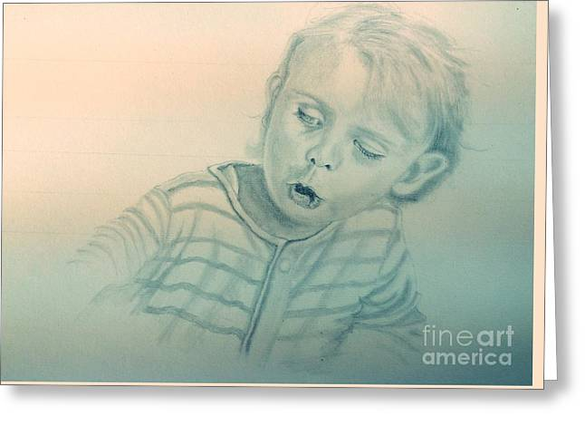 Inquisitive Child Greeting Card