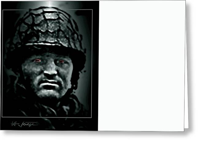 The  Insanity  Mind-less  State  Of Isis Greeting Card by Hartmut Jager