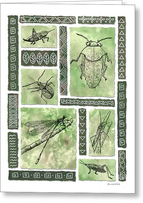 Insects Of Hawaii I Greeting Card by Diane Thornton