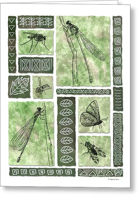 Insects Of Hawaii II Greeting Card by Diane Thornton
