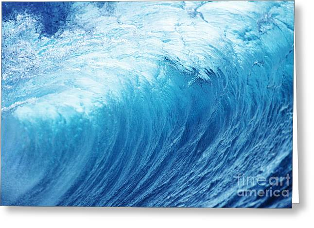 Inside A Glassy Wave Greeting Card by Vince Cavataio - Printscapes