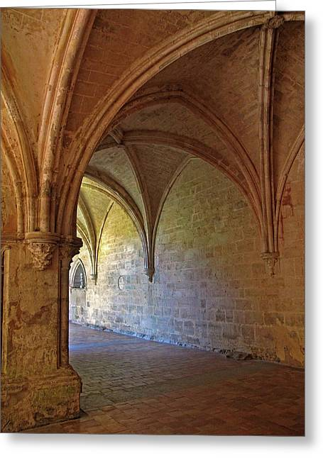 Inside A Monastery Dordogne France  Greeting Card