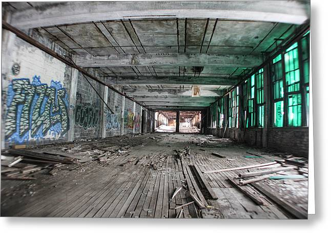 Inside Detroit Packard Plant  Greeting Card