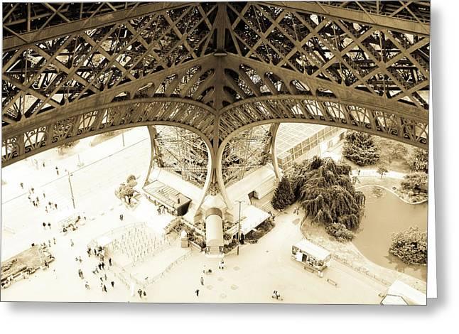Inside Eiffel Greeting Card by Patrick Rabbat