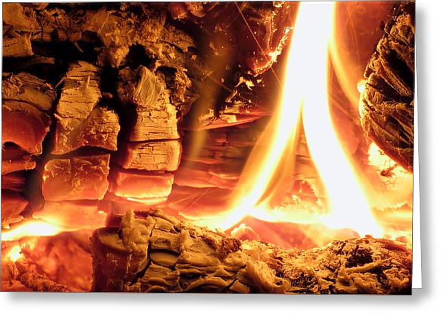 Inside Fire Greeting Card