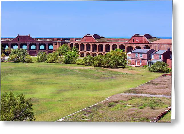 Inside Fort Jefferson Greeting Card by John M Bailey