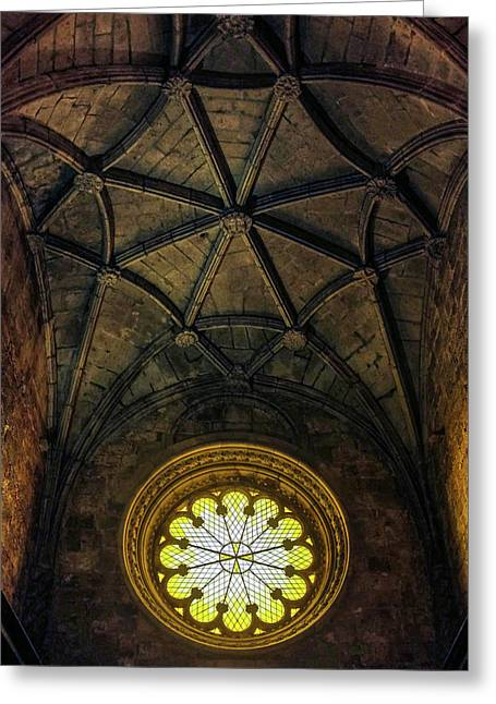 Greeting Card featuring the photograph Inside Jeronimos by Carlos Caetano