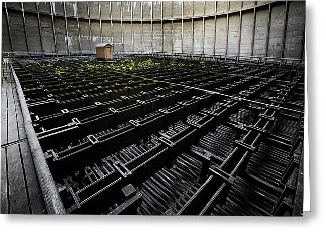 Greeting Card featuring the photograph Inside Of Cooling Tower - Industrial Decay by Dirk Ercken