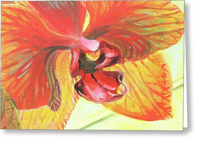 Inside Orchid Greeting Card