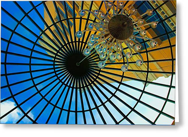 Inside Out - View From Inside The Bellagio - Las Vegas, Nevada Greeting Card