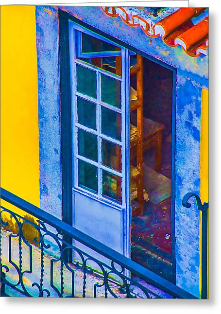 Inside Portugal Home Greeting Card by Julie Palencia
