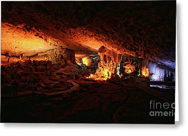 Inside Sung Slot Cave Vietnam  Greeting Card by Chuck Kuhn