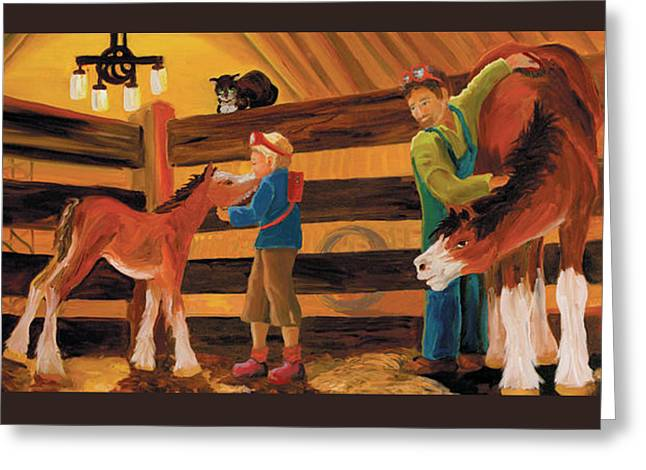 Inside The Barn Greeting Card