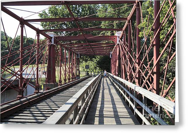 Inside The Bollman Truss Bridge At Savage Maryland Greeting Card