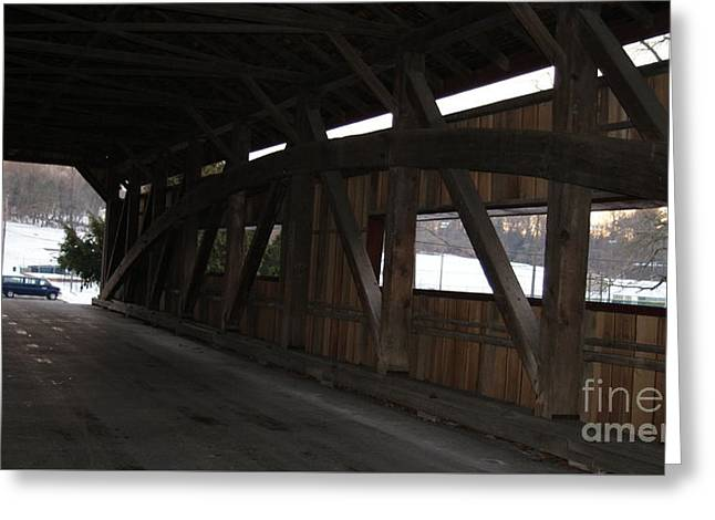 Inside The Covered Bridge...   # Greeting Card by Rob Luzier