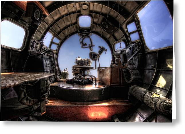 Inside The Flying Fortress Greeting Card