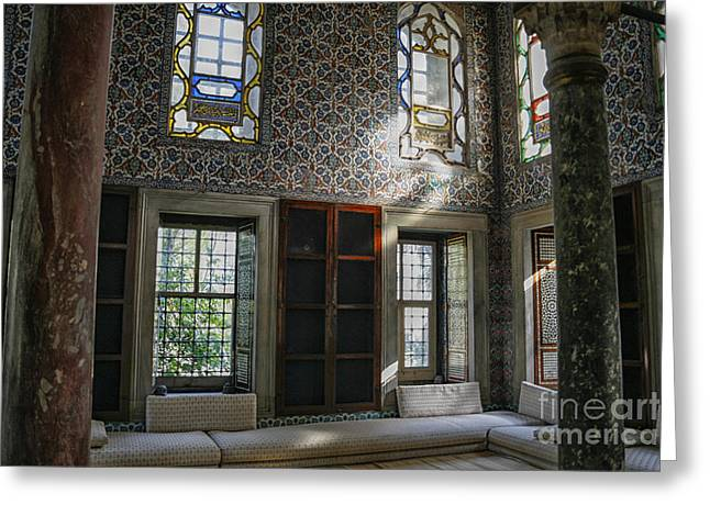 Inside The Harem Of The Topkapi Palace Greeting Card