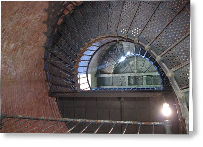 Inside The Lighthouse Greeting Card