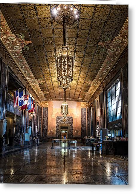 Inside The Louisiana State Capitol Greeting Card by Andy Crawford