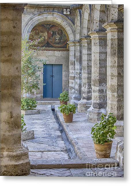 Inside The Monastery Of Saint Catherine In Arequipa, Peru Greeting Card by Patricia Hofmeester