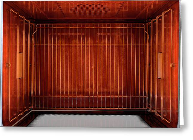 Inside The Oven From Above Greeting Card