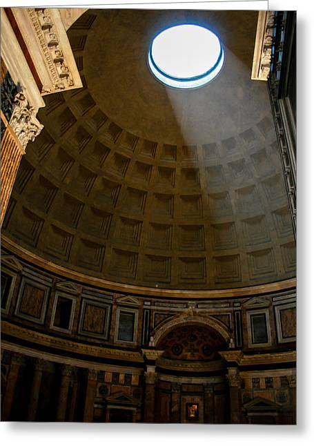 Inside The Pantheon Greeting Card by Rainer Kersten