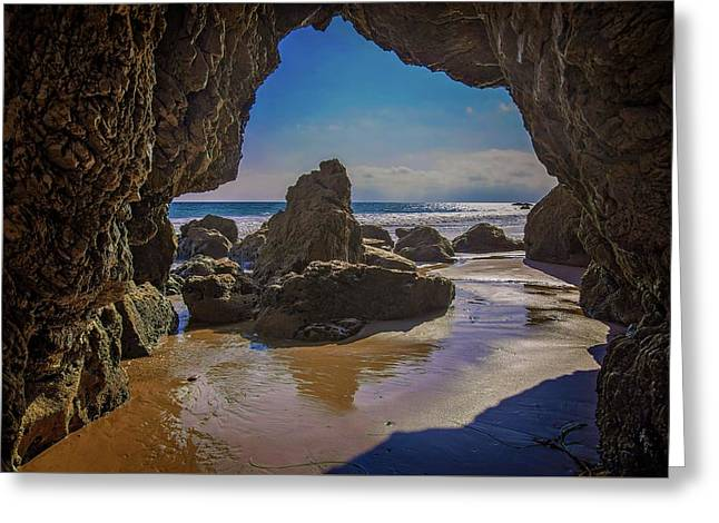 Inside The Rock Cave Greeting Card
