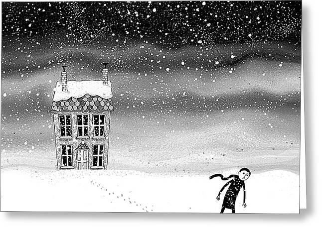 Inside The Snow Globe  Greeting Card