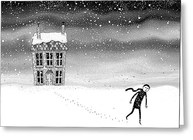 Inside The Snow Globe  Greeting Card by Andrew Hitchen