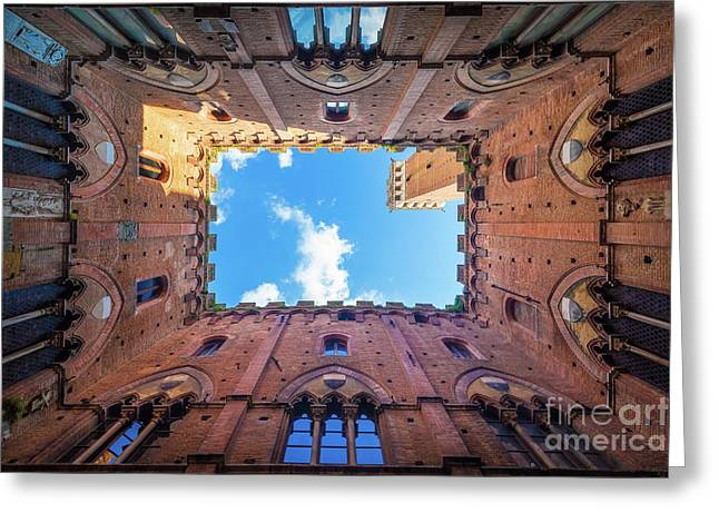 Inside The Tower Greeting Card by Inge Johnsson