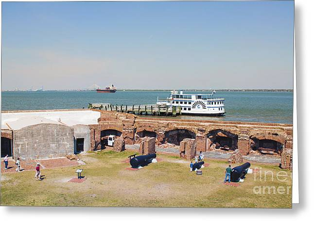 Inside View Of Fort Sumter Greeting Card