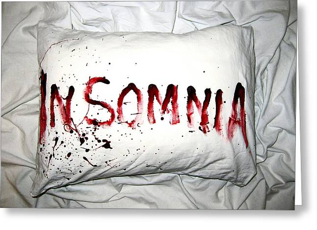 Insomnia Greeting Card by Nicklas Gustafsson