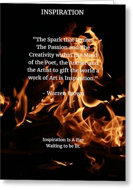 Inspiration And Creativity Greeting Card by Warren Brown