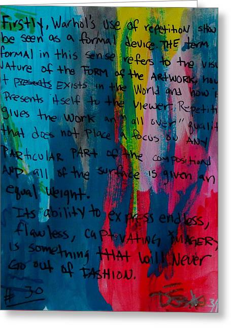 Inspiration From Warhol Greeting Card