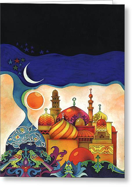 Inspiration Of The Arabian Nights Greeting Card by Mohamed Abotalib