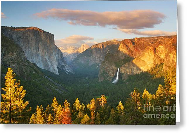 Bridalveil Falls Greeting Cards - Inspiration Point Yosemite Greeting Card by Brian Ernst