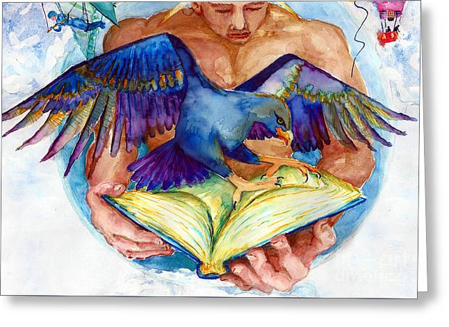Inspiration Spreads Its Wings Greeting Card by Melinda Dare Benfield