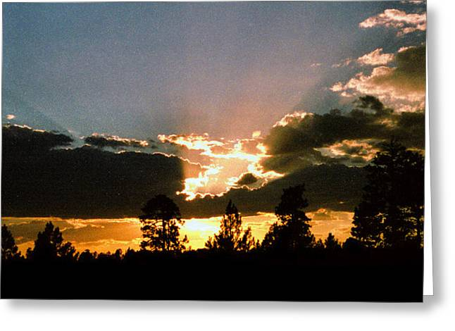 Inspiration Sunset Greeting Card by Randy Oberg