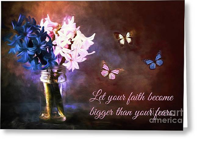 Inspirational Flower Art Greeting Card by Tina LeCour