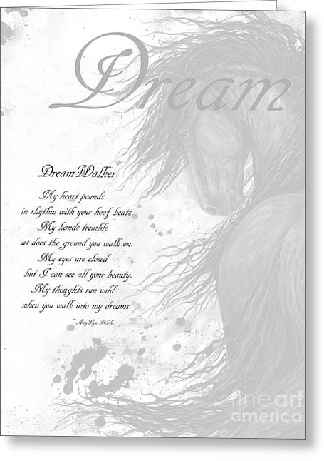 Inspirational Poem Dreams Greeting Card by AmyLyn Bihrle