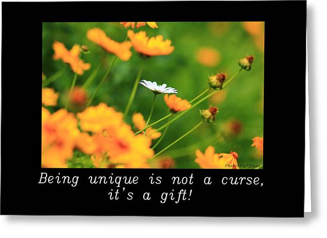 Inspirational-being Unique Is A Gift Greeting Card