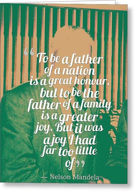 Inspirational Quotes - Motivational - 120 Nelson Mandela Greeting Card by Celestial Images