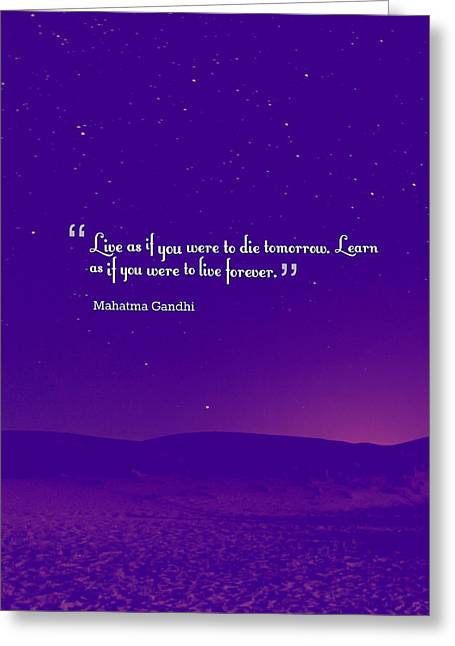Inspirational Quotes - Motivational - 129 Balance Greeting Card by Celestial Images