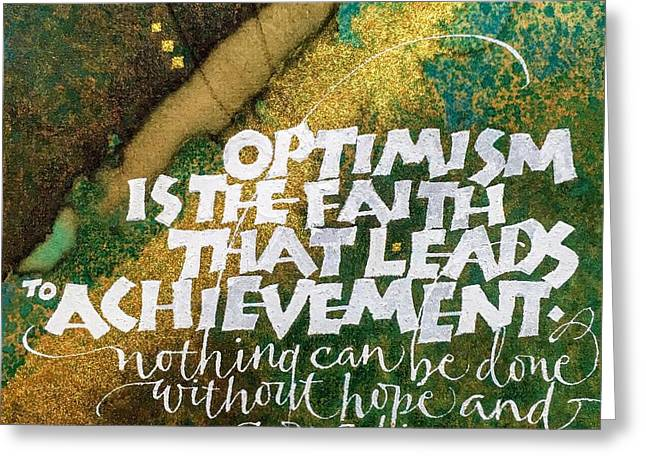 Inspirational Saying Optimism Greeting Card