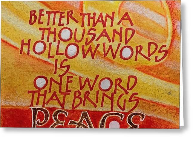 Inspirational Saying Peace Greeting Card