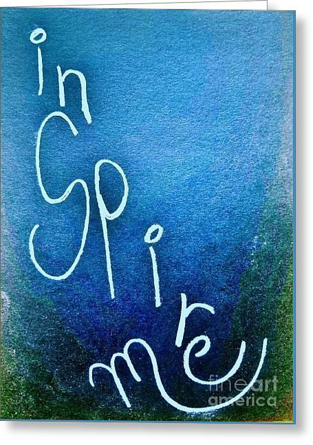 Inspire Me - Deep Blue Sea Greeting Card by Scott D Van Osdol